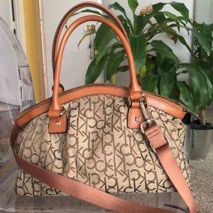 Calvin Klein Monogram Satchel Handbag
